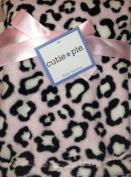Cutie Pie Plush Pink Leopard With Black & White Spots Baby Nursery Blanket