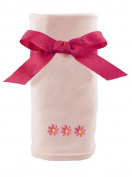 Princess Linens Cotton Knit Blanket with Embroidered