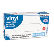 General-Purpose Vinyl Gloves, Powder&Latex-Free, 4 mils, Medium, Clear, 100/Box