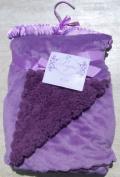 Payton Collection Lavender Reversible Plush Scalloped Edge Sherpa Baby Blanket