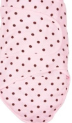 Miracle Blanket - Baby Swaddling Blanket - Pink with Chocolate Polka Dots