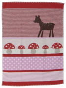 David Fussenegger Baby Blanket Lena Bambi/Mushrooms 99cm x 74cm GOTS Certified (organic cotton) 6564/15