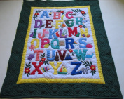 Hawaiian Style Quilt ABC Comforter Baby Crib Blanket Wall Hanging, Hand Quilted and Machine Appliqued