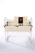 Baby Doll Bedding Cosy Carousel II Minky with Embroidery Cradle Bedding Set