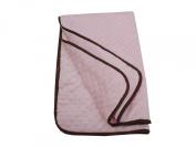 American Baby Company Minky Dot Cradle Comforter With Chocolate Trim