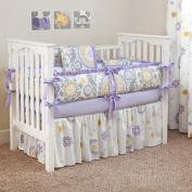CUSTOM BOUTIQUE BABY BEDDING - Suzani Lavender - 5 Pc Crib Bedding Set