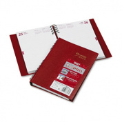 CoilPRO Daily Planner, Ruled 1 Day/Page, 5-3/4 x 8-1/4, Red, 2014
