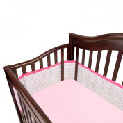 Breathable Mesh Crib Liner by BreathableBaby - Pink Stitch