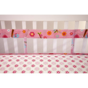 Little Bedding by NoJo Sweet Lil Birds Secure-Me Crib Liner