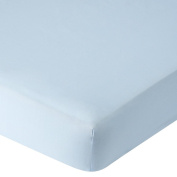 . Brushed Crib Sheet - Light Blue