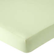 . Percale Crib Sheet - Sage