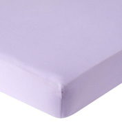 . Knit Crib Sheet - Lilac