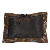 I Frogee Brocade Baby Pillow in Chocolate Brown Dragonfly