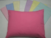 SheetWorld Crib / Toddler - Flannel Baby Pillow Case - Light Solids - Made In USA