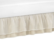 Champagne and Ivory Victoria Bed Skirt for Toddler Bedding Sets by Sweet Jojo Designs