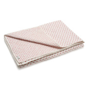 Auggie Crib Quilt in Cross Stitch Pink