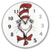 Trend-Lab Baby Nursery Dr. Seuss Cat in the Hat Wall Clock