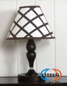 GEENNY CF-2066-L Blue Brown Diamond Lamp Shade ONLY without base
