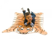 J.I.P Rug Brown Tiger Acrylic, With Rubber Backing