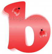 Red Ladybug Alphabet Letter Initial Wall Sticker Vinyl Stickers - Decal Letters for Children's, Nursery & Baby's Room Decor, Baby Name Wall Letters, Girls Bedroom Wall Letter Decorations, Child's Names. Ladybugs Lady Bug Mural Walls Decals Baby Shower