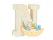 "Child to Cherish Baby Pastel Animal Alphabet Letter ""N"""
