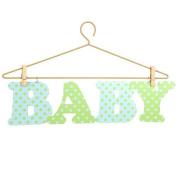 Little Boutique Hanger Wall Art - Blue & Green Baby