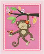 Miss Monkey Nursery Art Prints