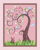 Love Birds, Flowers and Tree Nursery Art Prints
