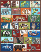 Animal ABC Nursery Art Print