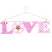 Little Boutique Hanger Wall Art - Pink Love