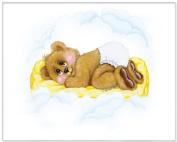 New Baby Collection - Pamper Bear - Childrens Wall Art, Kids Wall Art, Nursery Wall Art