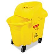 WaveBrake Institutional Bucket/Strainer Combo, 8.75gal, Yellow