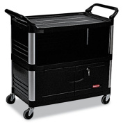 Xtra Equipment Cart, 300-lb Cap, Three-Shelf, 20-3/4w x 40-5/8d x 37-4/5h, Black