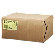 12# Paper Bag, 40lb Kraft, Brown, 7 1/16 x 4 1/2 x 13 3/4, 500/Pack