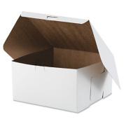 Tuck-Top Bakery Boxes, 10w x 10d x 5 1/2h, White, 100/Carton