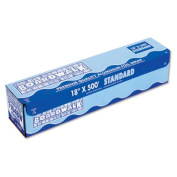 "Standard Aluminum Foil Roll, 18"" x 500ft, 14 Micron Thickness, Silver"