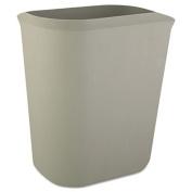 Fire-Resistant Wastebasket, Rectangular, Fiberglass, 3.5gal, Gray
