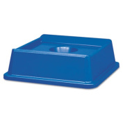 Untouchable Bottle & Can Recycling Top, Square, 20 1/8 x 20 1/8 x 6 1/4, Blue