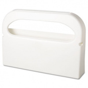 Toilet Seat Cover Dispenser, Half-Fold, Plastic, White, 16w x 3 1/4d x 11 1/2h