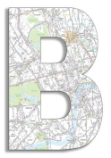The Home Stupell Home Decor Collection London Map Hanging Wooden Initial, B, 46cm