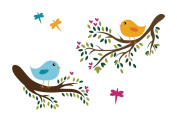Large Tree Branch with Cute Birds Wall Decal Children's Baby Nursery Room Decor Stickers