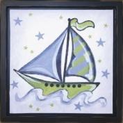 Boat and Stars Wall Art