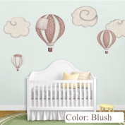 Hot Air Balloon Decals & Cloud Wall Stickers for Baby Room Nursery