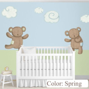 Teddy Bears Decals & Clouds Wall Stickers as Nursery Wall Décor