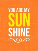 Oopsy daisy, Fine Art for Kids You are My Sunshine Orange Stretched Canvas Art by Vicky Barone, 46cm by 61cm