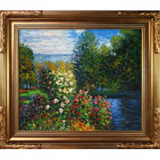 overstockArt Claude Monet Corner of the Garden at Montgeron 51cm by 61cm Framed Oil on Canvas