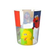 Sesame Street Patchwork Bathroom Bedroom Wastebasket Trash Bin Basket