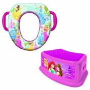 Disney Soft Potty and Step Stool Combo Set