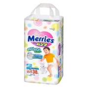 Kao | Nappies | Merries Pants Nobinobi Walker Big-size { 12kg~22kg } 38 sheets [ Japanese Import ]