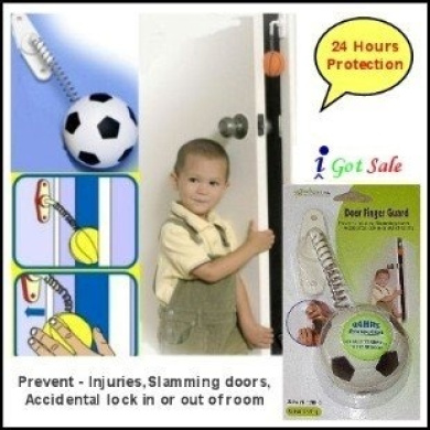 Door Finger Guard. Prevents injuries, slamming doors, accidental lock in or out of rooms - Soccer